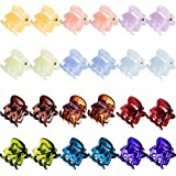 Mini Hair Clips Plastic Hair Claws Pins Clamps for Girls and Women (24 Pieces, Multicolor)