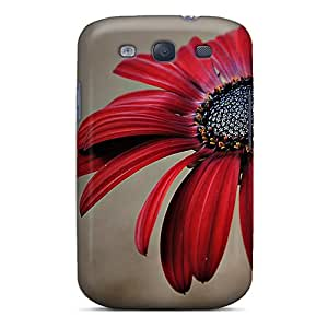 CyChmPA1321NCayj Tpu Case Skin Protector For Galaxy S3 Redflower With Nice Appearance