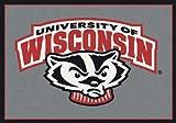 """Milliken Wisconsin College Team Spirit Area Rug by, 3'10"""" x 5'4"""""""