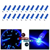 01 silverado cluster - CCIYU 20 Pack Blue T5 Instrument Cluster Panel Gauge Dash LED Bulb light 17 57 37 73 74