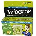 Airborne Effervescent Adult Formula, xdjw Pack of 72 Tablets Lemon-Lime