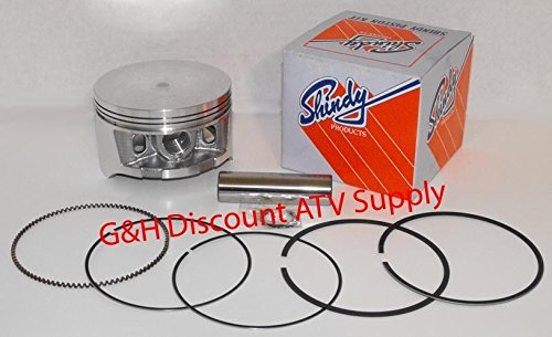 Shindy Piston & Rings Kit for 1998-2004 Honda TRX 450 S ES Foreman ATV (made in Japan) (1st Oversize (90.25mm)) (Foreman 450 Piston Kit)