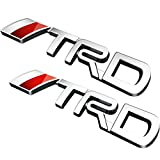 Deselen - LP-BS09 - Toyota TRD Car Emblem Chrome Stickers Decals Badge Labeling for Fj Cruiser, Supercharger, Tundra, Tacoma, 4runner,yaris,Camry, Pack of 2 (Silver)