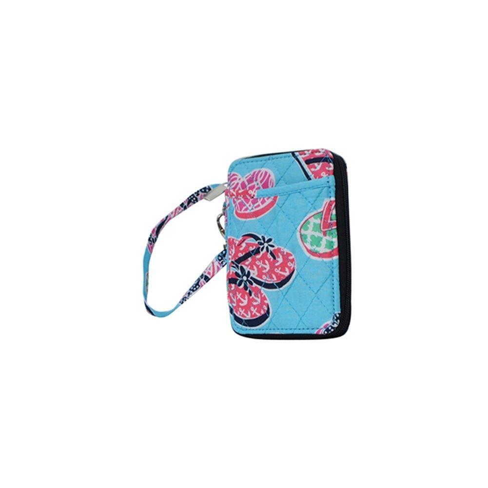 Flip Flop Summer Sandals Print NGIL Quilted Wristlet Wallet