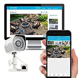 Zmodo SPoE Security System -- 4 Channel NVR & 4 x 720p IP Cameras and 1TB Hard Drive