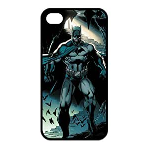 4S Case,TPU iPhone 4s Case,Batman Design Fashion Pattern Hard Back Cover Snap on Case for iPhone 4 / 4s (Black/white)