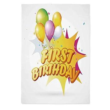 Amazon.com: Mantel para decoración de primer cumpleaños, no ...