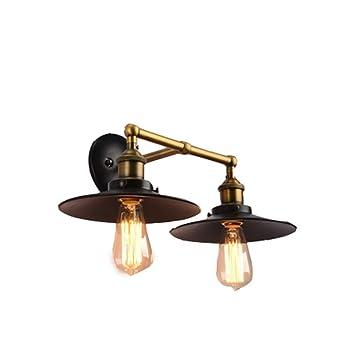 NIAI Lámparas de pared vintage Socket ajustable Iluminación ...