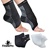 Foot Sleeve, Plantar Fasciitis Silicone Gel Heel Protectors & Arch Support Therapy Wrap For Men & Women - #1 Ultra...