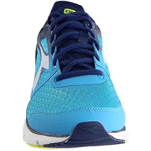 Mens Diadora Run 505 Blu Fluo / Bianco