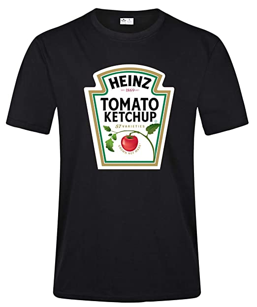 02a56238 Amazon.com: HSX Tees Heinz Tomato Ketchup Men's Tee Shirts: Clothing