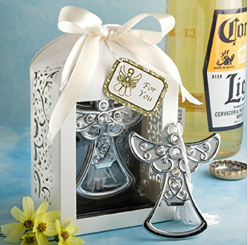 36pcs Crystal Angel Bottle Opener For Wedding Party Favor