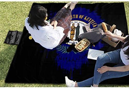 """Cuscino da divano Kentucky, con bandiera del teschio, coperta da picnic, impermeabile, coperta da picnic, pratica da campeggio, spiaggia, escursionismo, tappetino da 57"""" x 59"""""""