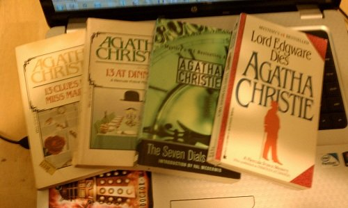 Set of 4 Agatha Christie Novels (Lord Edgware Dies, The Seven Dials Mystery, 13 at Dinner, 13 Clues for Miss Marple)