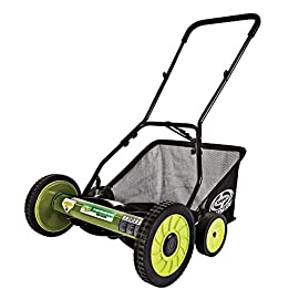 Sun Joe Manual Reel Mower 40 Steel frame and blades 18 inch wide cutting path 9-position height control