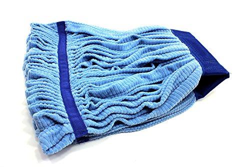 Microfiber String Mop - Microfiber Tube Mop - String Mop Refill (16 oz, Blue)