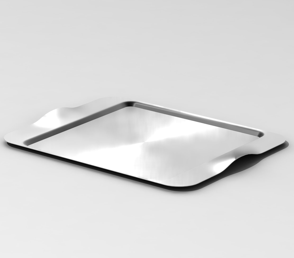 Brushed Stainless Steelforme Mod18 Steelworks SB-43 16 x 13 Rectangular Tray
