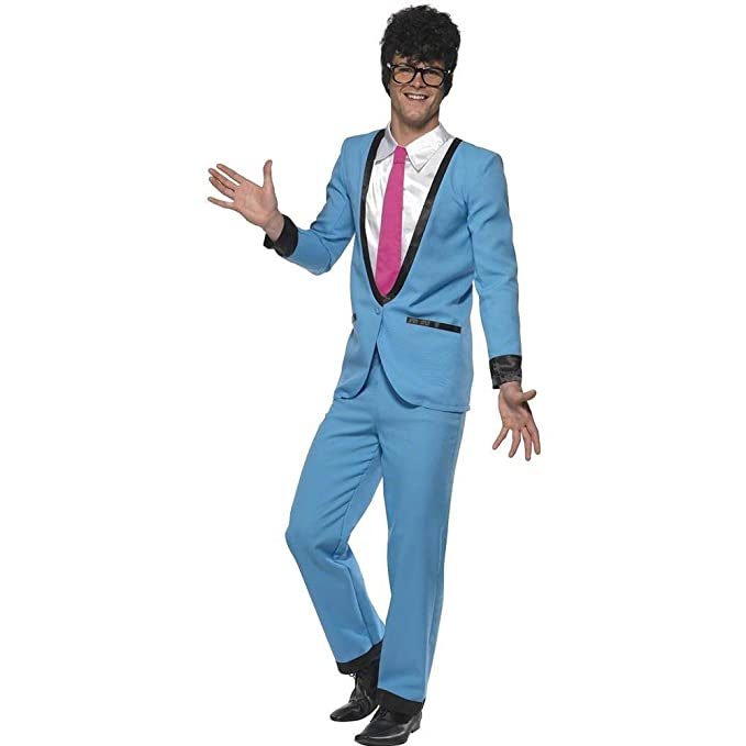 1960s Men's Costumes Smiffys Mens Teddy Boy Costume with Trousers Jacket with Mock Shirt and Tie  AT vintagedancer.com