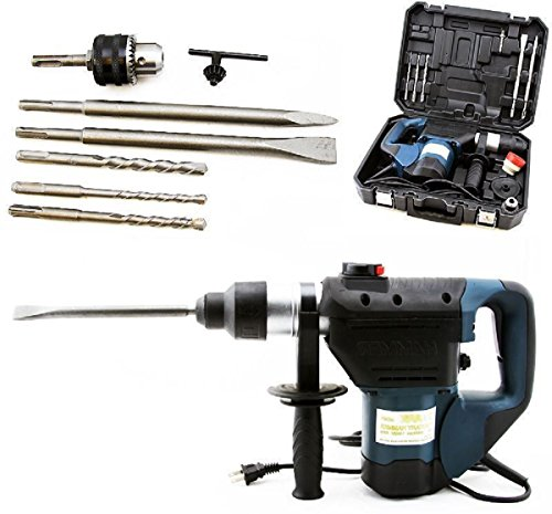 1-1/2'' SDS Rotary Hammer Drill Kit Concrete Demolition Tool 1.5'' w/ Bits & Case,NEW by Brand New