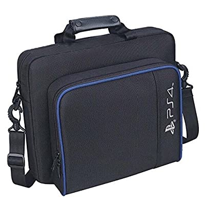 New Travel Storage Carry Case Protective Shoulder Bag Handbag for PlayStation 4 System Console Carrying Bag and Accessories by Huntmic
