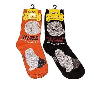 Foozys Unisex Crew Socks | Canine Large & Medium Dog Breed Novelty Sock (2 Pair) 1