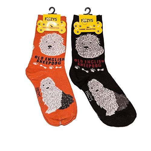 Foozys Unisex Crew Socks | Canine/Dog Collection | Old English ()