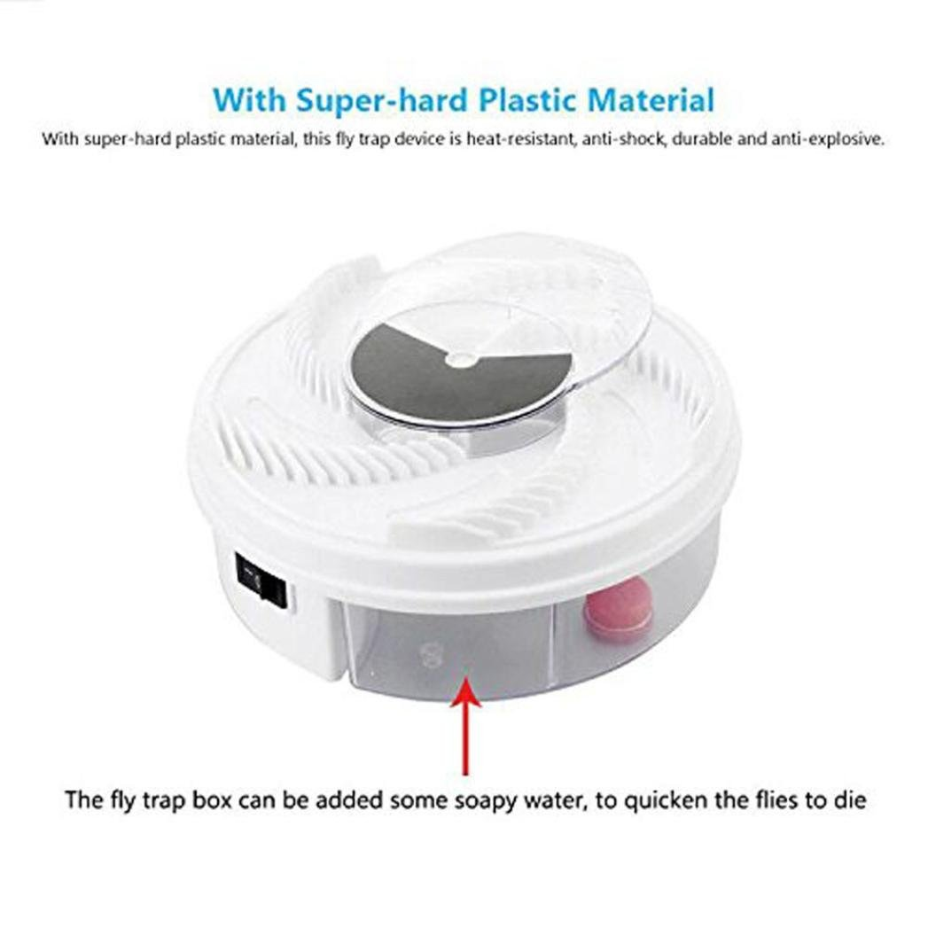 Hechun Electric Fly Trap Device with Trapping Food Mosquito Killer Pest Control Pest Catcher (White) by Hechun (Image #8)