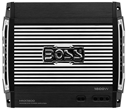 BOSS AUDIO MNX1800 Onyx 1800-Watt Monoblock, Class A/B 2-8 Ohm Stable Monoblock Amplifier with Remote Subwoofer Level Control