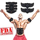 ABSTRAINER Abs Stimulator Abdominal Trainer Ultimate Abs Stimulator Ab Stimulator for Men Women Work Out Ads Power Abs Training Gear Workout Equipment Portable Stimulator Abs Belt 02