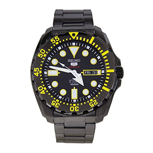 Seiko Men's 5 Automatic SRP607K Black Stainless-Steel Automatic - Seiko Automatic Monster Black