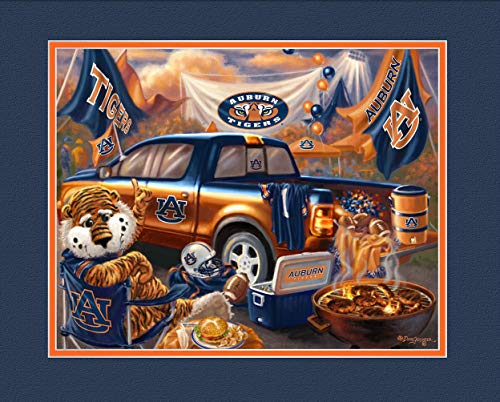 Prints Charming College Tailgate Auburn Tigers Unframed Poster 12x16 - Auburn Iron Bowl