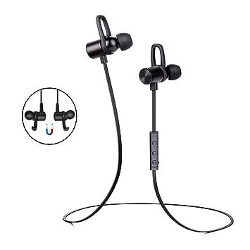 Auriculares Bluetooth V4.1 Magnéticos In-ear Cascos inálambrico Deportivos con Micrófono Manos Libre