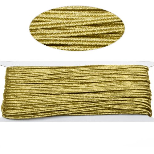 Gold Color Soutache Cord for Jewelry Making-65 Feet-3.5mm ()