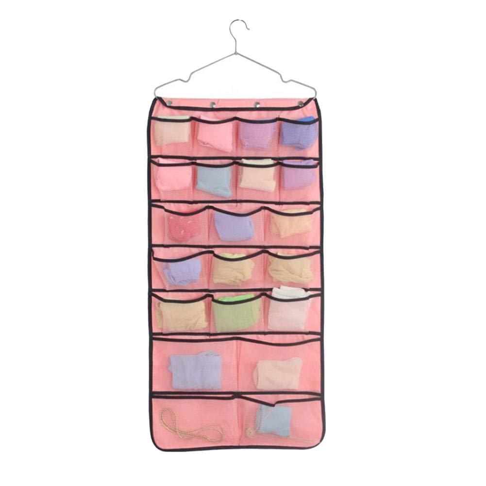 IMSHIE High-Grade Washable Oxford Cloth Jewelry Hanging Bag Double Sided Visible Nylon Mesh Organizer Pockets Hanging Organizer Storage Bag