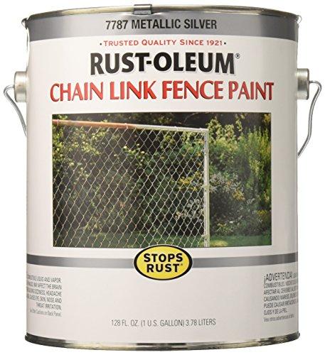 Rust-Oleum 7787402 Chain Link Fence Paint , 1 Gallon, Metallic Silver ()