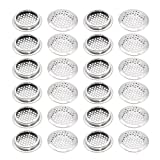 Stainless Steel Air Vent Louver, Saim 53mm Bottom Diameter Slope Round Perforated Mesh Cabine Cupboard Hole Air Vent Cover Louver for Kitchen, Cupboards, Garderobe, 24 Pcs