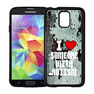 I Love Someone With Autism Puzzle Background Samsung Galaxy S5 SV Case - Fits Samsung Galaxy S5 SV