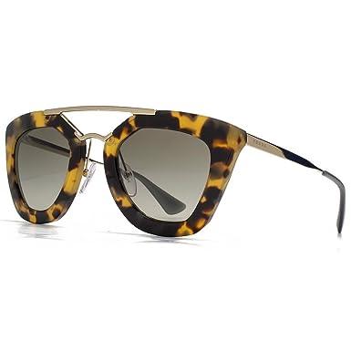 17c860e354 Prada Cinema Double Bridge Geometric Sunglasses in Medium Havana PR 09QS  7S04M1 49 49 Green Gradient