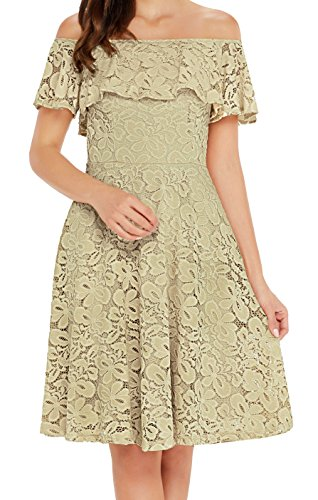 beige lace summer dress - 7