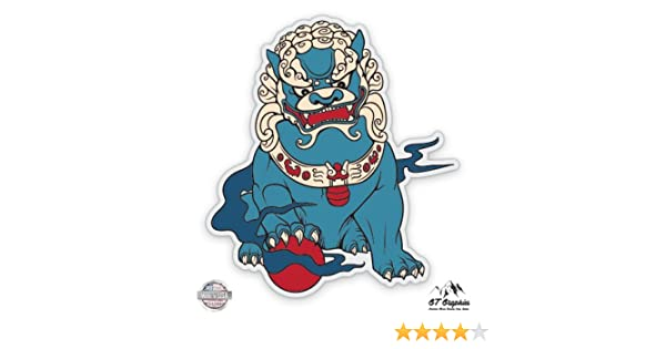 Vinyl Sticker Waterproof Decal Shisha Japanese Guardian Dog