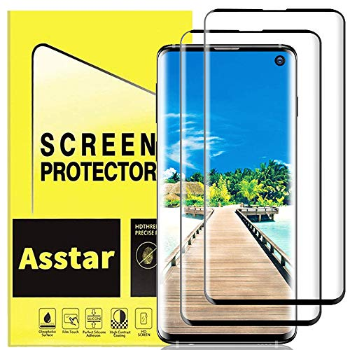 YMH for Samsung Galaxy S10 Plus Screen Protector 2019, [Zone Support Fingerprint Unlock] [No Bubbles] [9H Hardness] Tempered Glass Compatible with Samsung Galaxy S10+ S10 Plus [2 Pack]