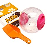 Alfie Pet by Petoga Couture - Kerry Run-About Small Animal Exercise Ball with Food Scoop Set for Small Animals like Dwarf Hamster and Mouse - Color: Pink, Size: Large (6 inches)