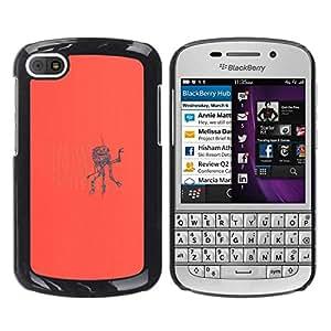 // PHONE CASE GIFT // Duro Estuche protector PC Cáscara Plástico Carcasa Funda Hard Protective Case for BlackBerry Q10 / Alla ricerca di qualcosa Robot /