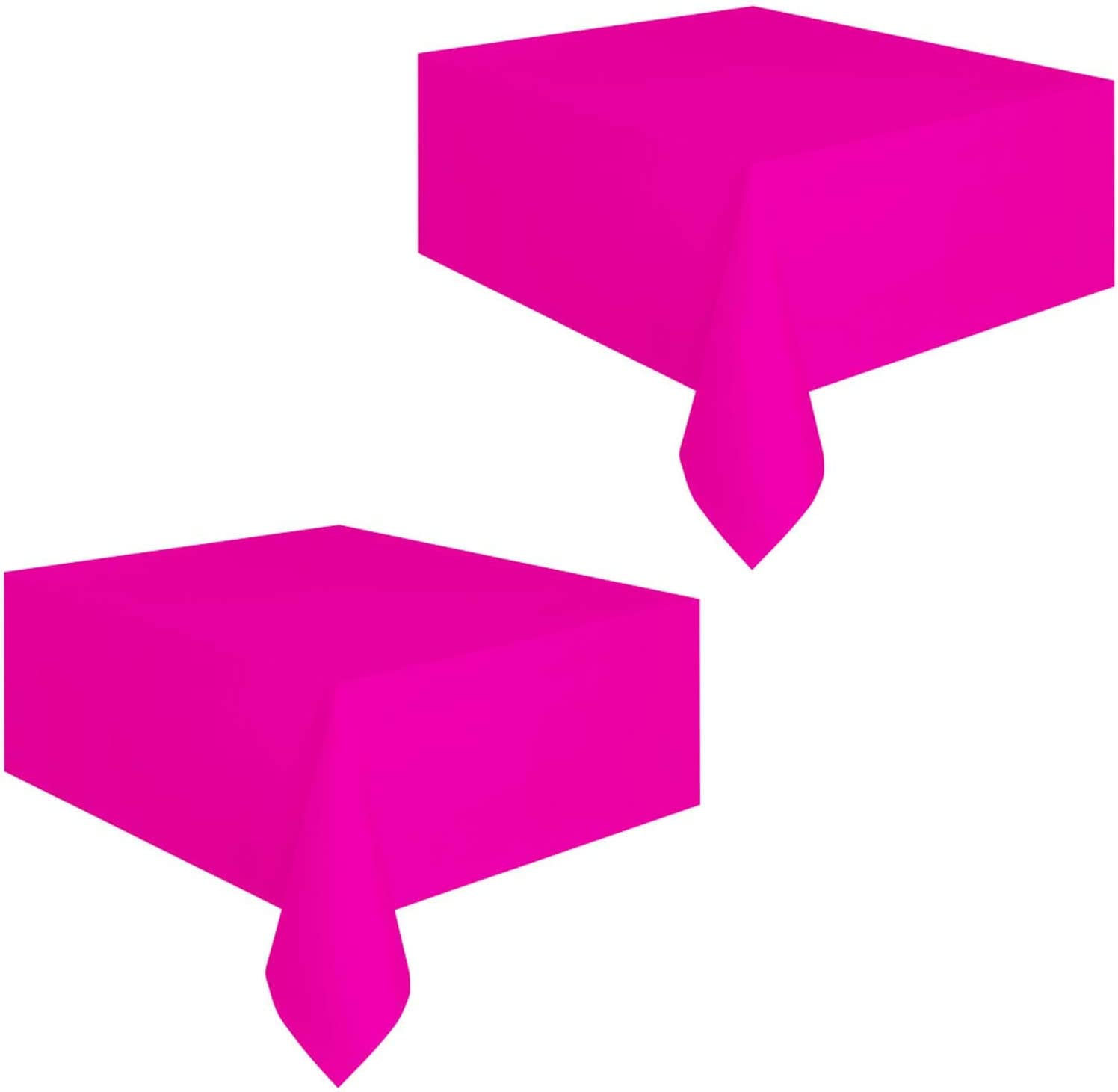 Hot Pink Party Supplies - Bright Neon Pink Plastic Table Covers (54