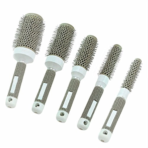 19/25/32/45/53Mm Ceramic Ionic Comb High Temperature Resistant Round Combs Iron Radial Brushes Curly Hairbrush Hair Salon Tool 45mm