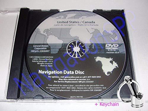 GM 2003-2006 Cadillac Escalade Navigation DVD Map Update p/n: 22846887 10.4 + Car Keychain Key Fob Engine