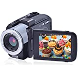 Camcorder Video Camera Full HD 1080p Camera Night Vision Hot Shoe for Microphone 3 Inch LCD Screen Digital Camera