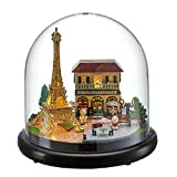 Flever Dollhouse Miniature DIY House Kit Creative Room with Furniture for Romantic Valentine's Gift(Romantic Paris with Golden Tower)