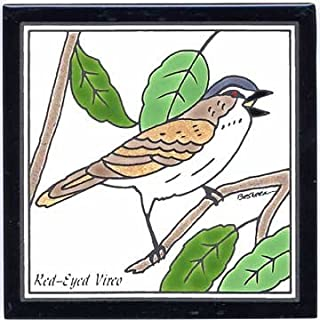 product image for RED-EYED VIREO TILE, RED-EYED VIREO WALL PLAQUE, RED-EYED VIREO TRIVET