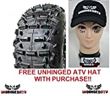 Pair of Goldspeed SC3 21x10-9 ATV Sand Tires and Free Unhinged ATV Hat!